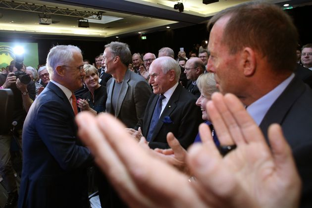Ex-Prime Ministers Howard and Abbott were in