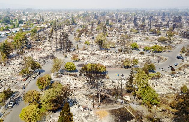 The wildfires caused extensive destruction in Santa