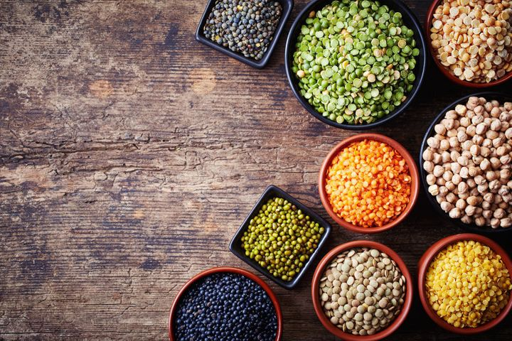 Legumes are a great natural source of protein.