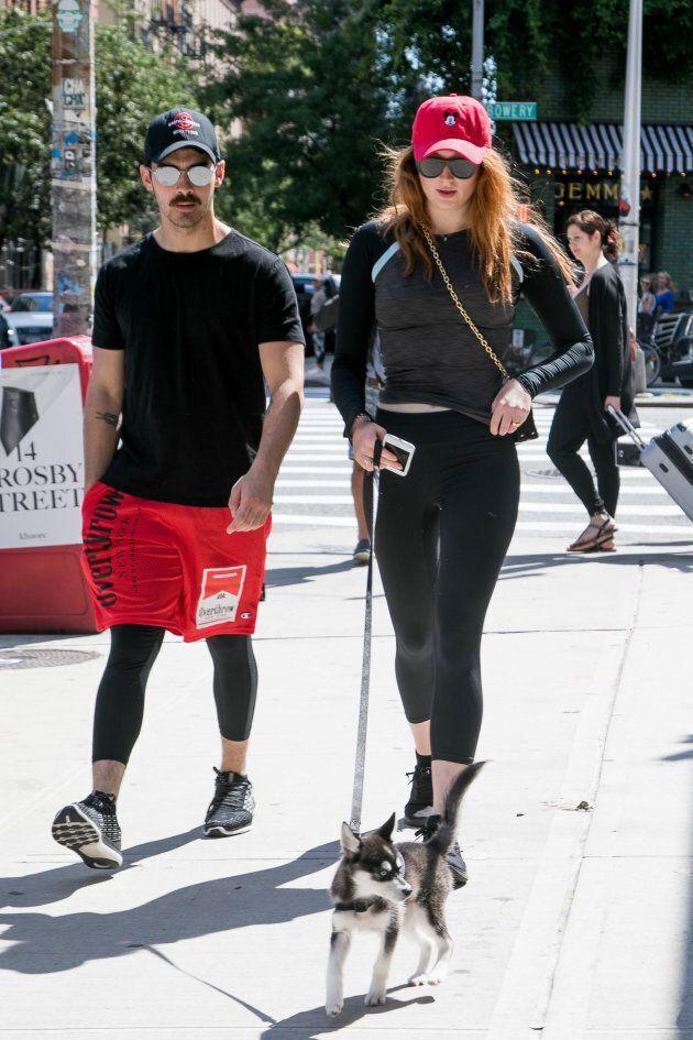 Joe Jonas and Sophie Turner are seen on September 8, 2017 in New York City.