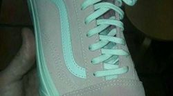 Okay -- Is The Shoe Pink And White Or Blue And