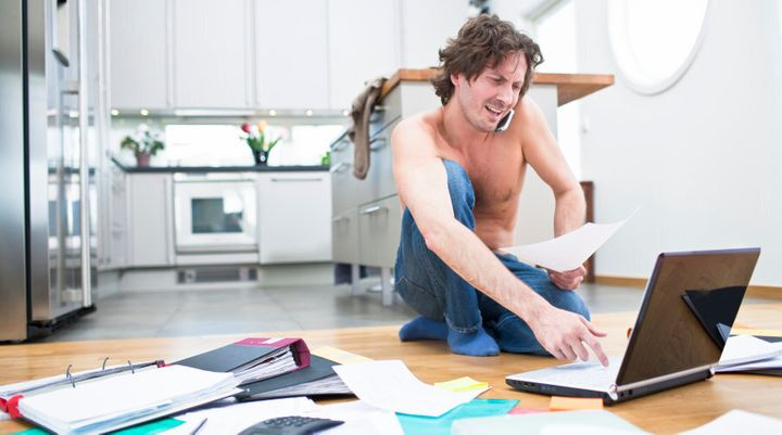 When you do your budget it might be easier to do it at a table. Shirt optional.