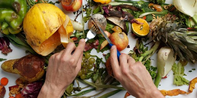 The average bin is made up of 40 percent food.