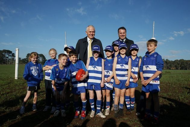 Turnbull and Briggs announced funding for the Mount Barker Regional Sports Hub in