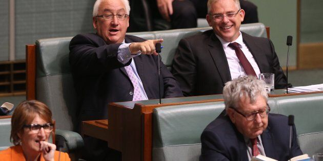 Michael Danby (left, pointing) has been criticising his Greens opponent