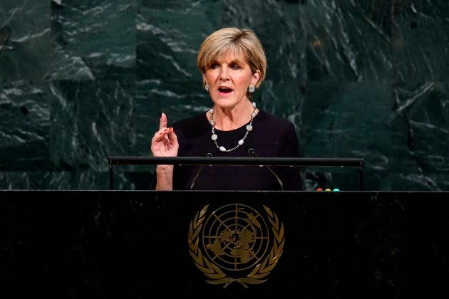 Foreign Minister Julie Bishop addresses the 72nd Session of the United Nations General assembly in New York on September 22