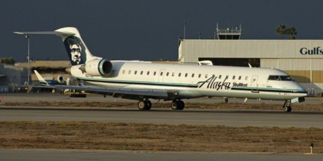 This Alaska Airlines Bombardier was NOT carrying one very important piece of luggage.
