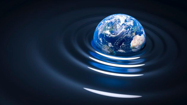 Gravitational waves can affect the orbit patterns of planets.