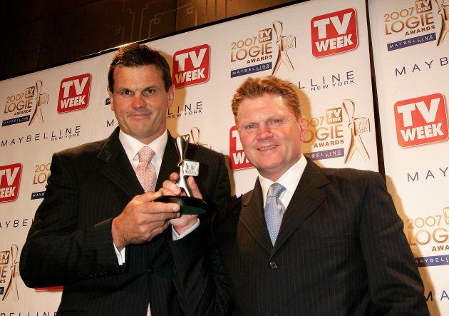 Vautin ten years ago in 2007, with then co-host Paul Harragon.