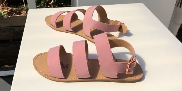 Slides and sandals are huge this summer and millennial pink is still a popular colour. These also come...