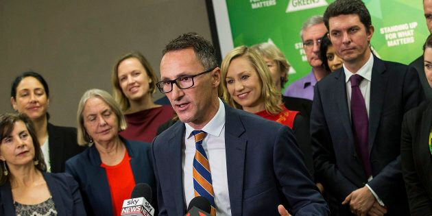 Richard Di Natale with his Greens candidates in