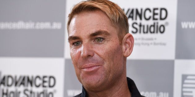 Warnie is an ambassador for the hair replacement specialists, because if there's anything a company needs...