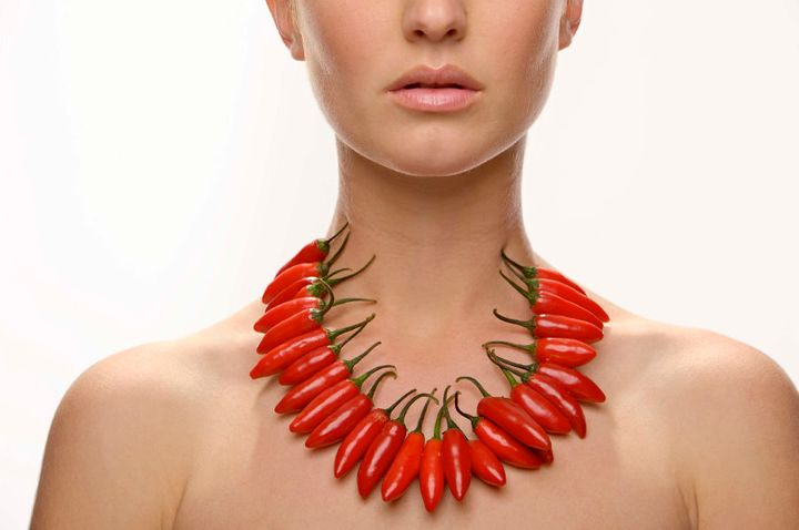 Chilli necklaces... the new rage?