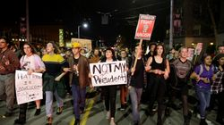US Anti-Trump Protests Focus On Portland, 25