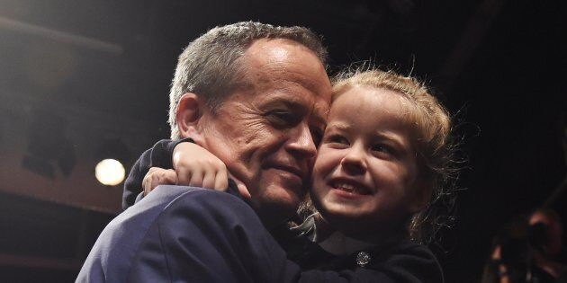Bill Shorten and his daughter