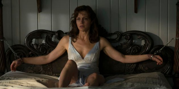 Carla Gugino as Jessie Burlingame in Netflix's 'Gerald's Game', based on the Stephen King novel by the...