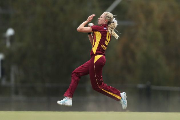 Holly has a lovely classical action, which was on display here in a recent match for Queensland.