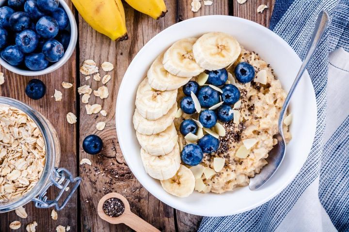 A bowl of porridge is a perfect way to get a few servings of whole grains.