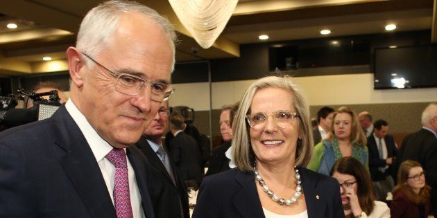 Malcolm Turnbull and wife Lucy at the National Press