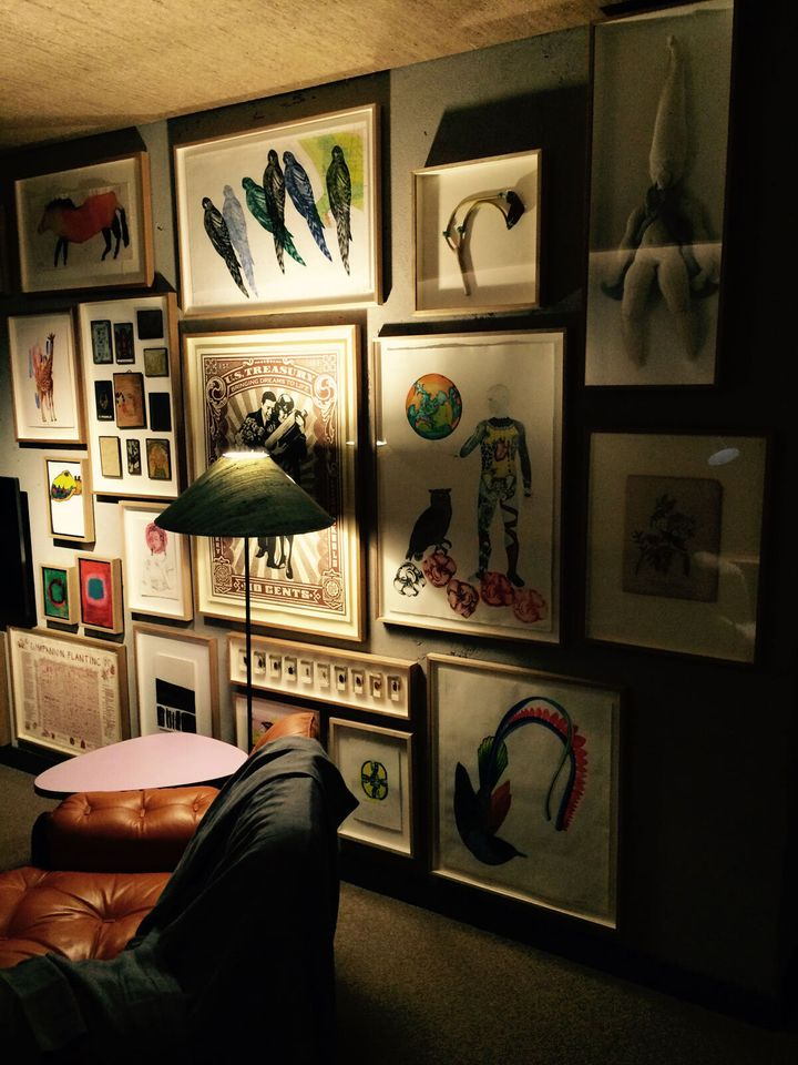Artworks in the Meandering Room.