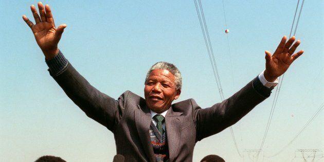 President Nelson Mandela addresses the South African National Congress in September
