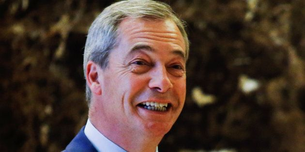 Nigel Farage looked pretty happy to be meeting Donald Trump.