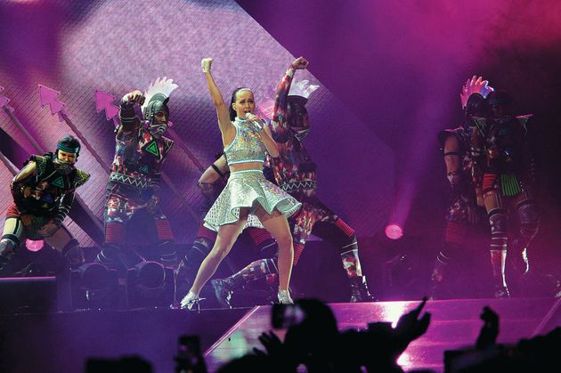 Katy Perry on her Prismatic World Tour in 2014 at Allphones