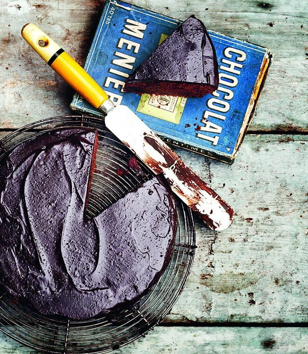 This cake celebrates two amazing things in this world: chocolate and