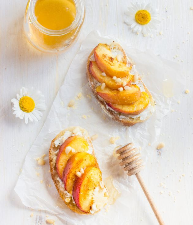 If you have time, grill the peach for a caramelised
