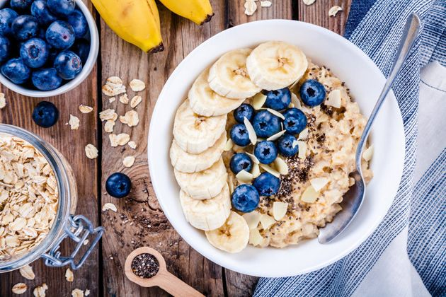 Sprinkle with chia seeds and nuts for