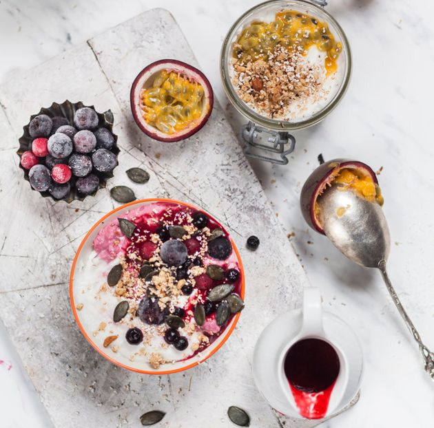 Swirl through berry coulis to naturally flavour the