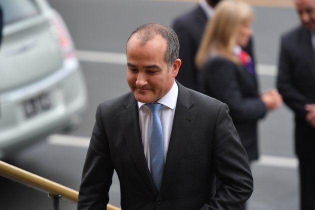 James Merlino arrives at St Paul's Cathedral in