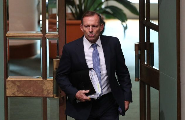 Tony Abbott arrives for question time at Parliament House Canberra on Thursday 19 October 2017.