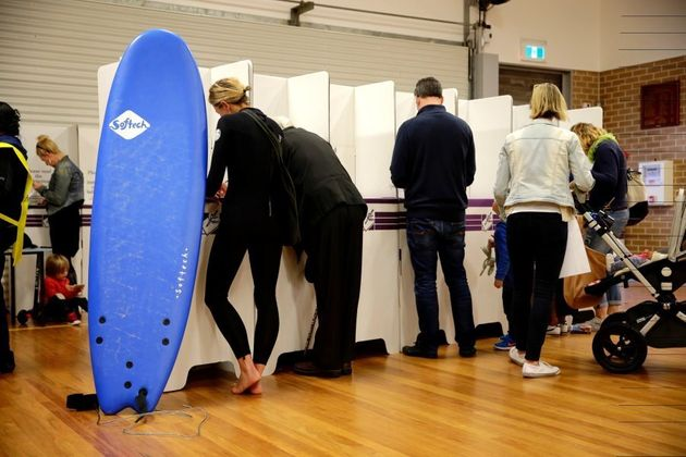 Voting booth at Bondi Public