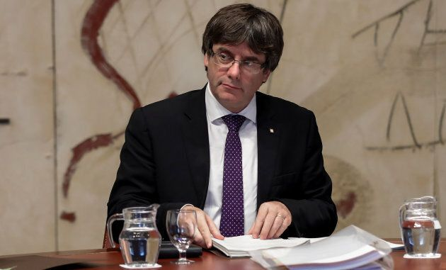 Catalan President Carles Puigdemont refuses to renounce independence, citing an overwhelming vote in...