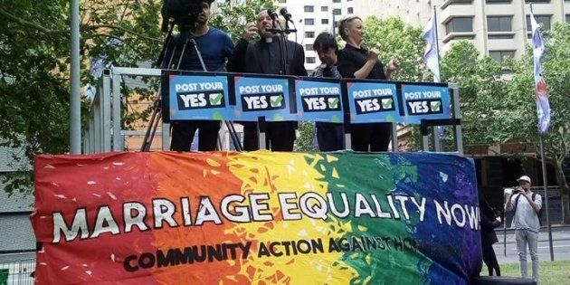 Sydney's rally was one of the four same-sex marriage rallies across Australia on