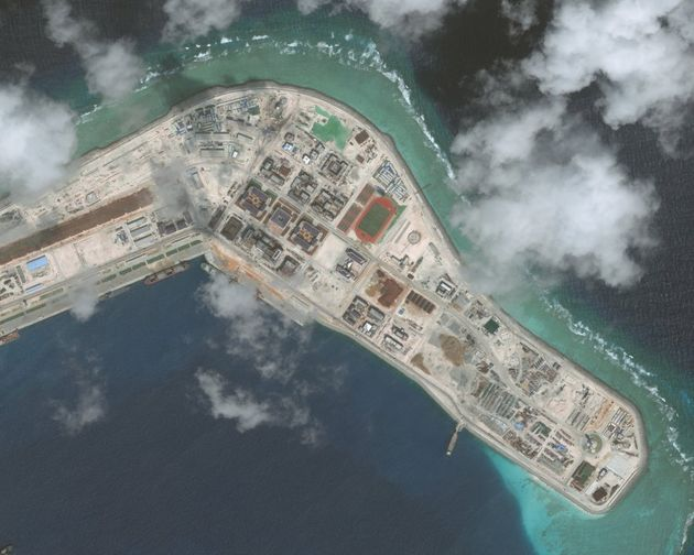 The Subi Reef in the South China Sea is now home to numerous