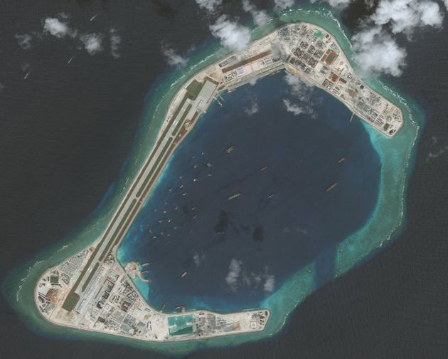 The Subi Reef in the South China Sea, a part of the Spratly Islands