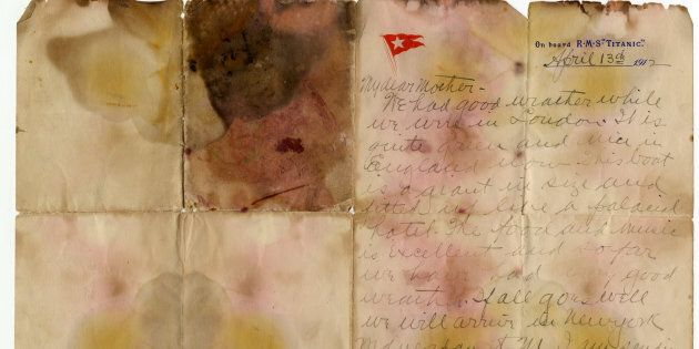 The letter was recovered from the body of Alexander Oskar Holverson, a Titanic