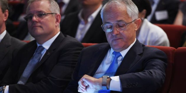 Malcolm Turnbull is settling in for a long wait to see if he remains