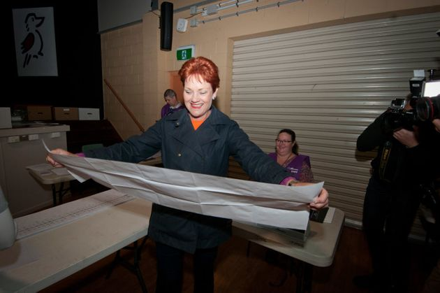 Hanson voting on election