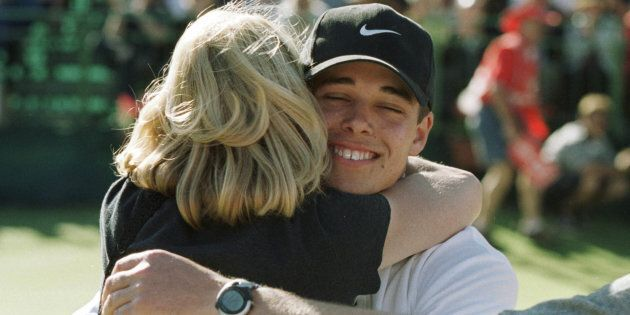 Piece of Wisdom number One: Hug your mother. This is Baddelely in 1999 after he won the Australian Open...