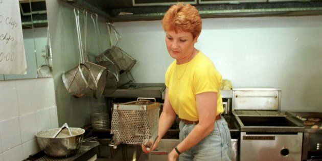 Pauline Hanson's former fish and chip shop could become a halal snack pack store.