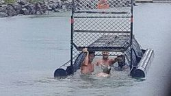 Four Men Pictured Swimming In Croc Trap Near Where Grandmother Was