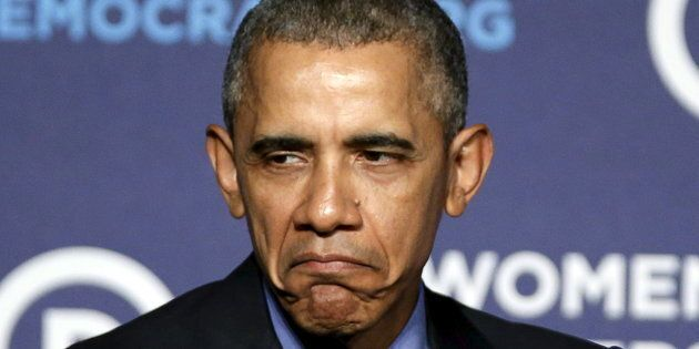 Grumpy Obama is