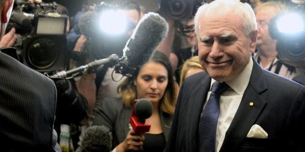 Former Prime Minister John Howard says his Liberal colleagues should not