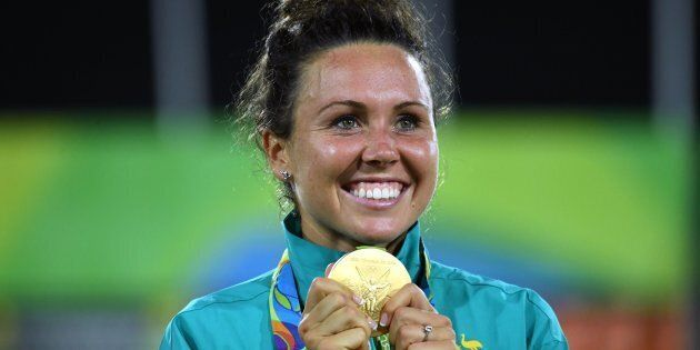 Modern pentathlete Chloe Esposito's gold medal just got a little bit more valuable. And she didn't know...