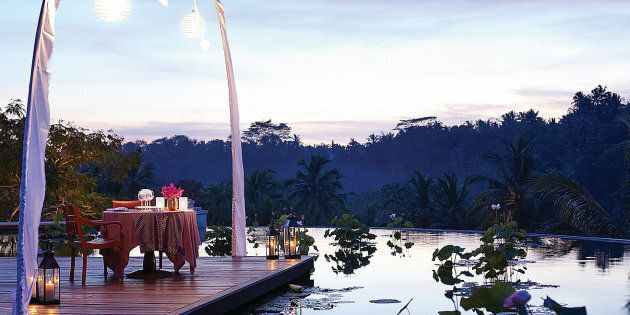 A dreamy dining experience nestled in Bali's Sayun Valley.
