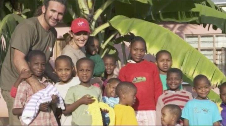 Rebecka and Darren at the refuge in Tanzania.