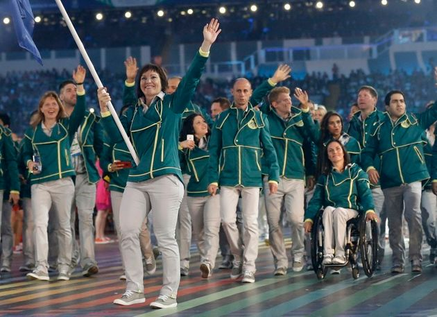 Meares was Australia'€™s flag bearer during the opening ceremony for the Commonwealth Games in
